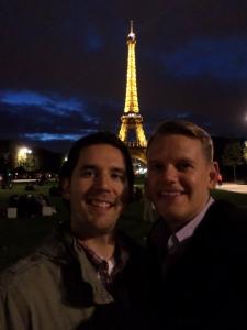 Jeff and Scott Eiffel Tower Picnic