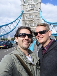 Jeff and Scott Tower Bridge